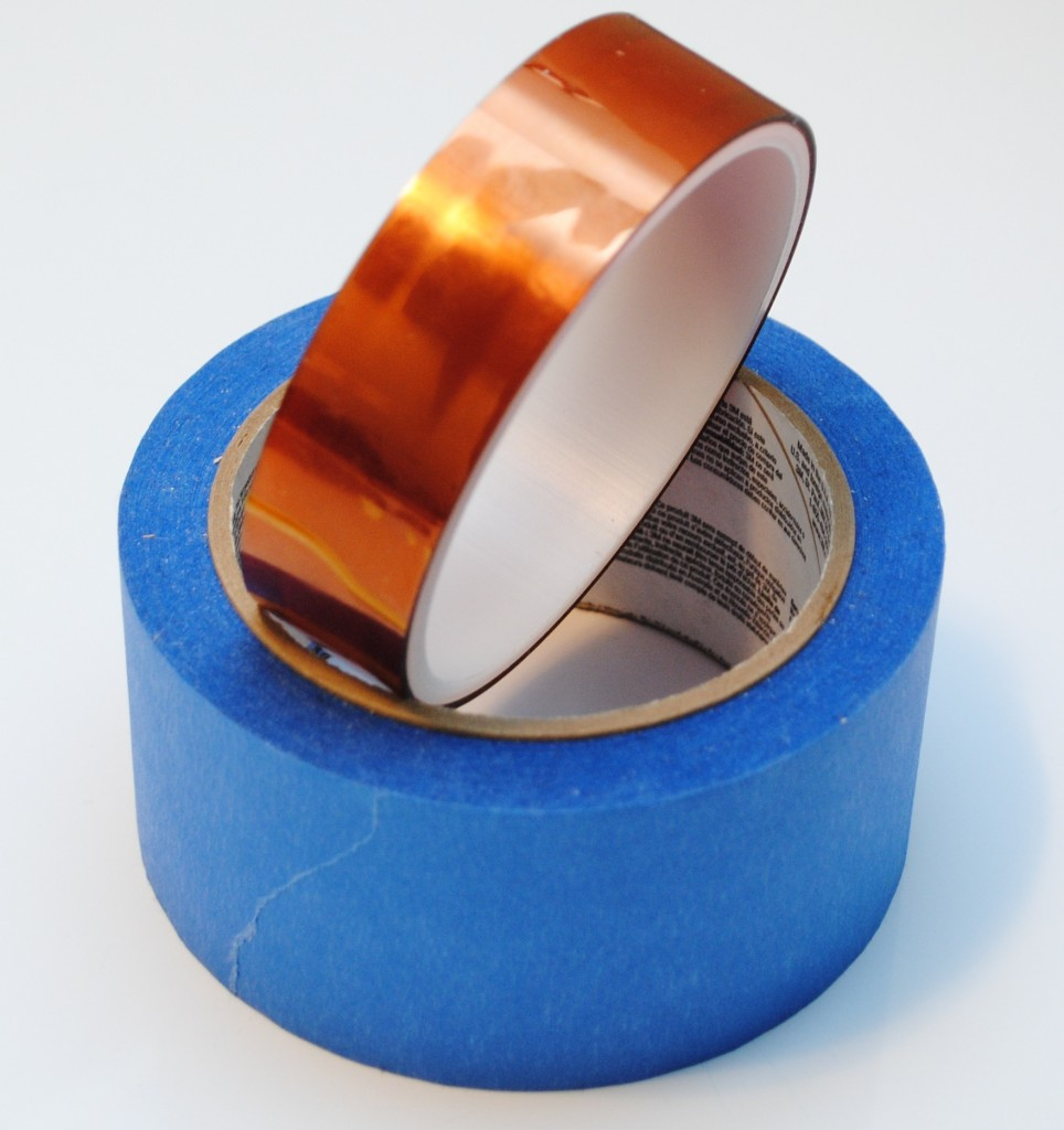 Kapton-Tape-and-Blue-Painters-tape-for-PLA-filament-adhesion